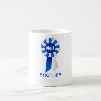 Rosette in Blue and White No. 1  Brother Mug
