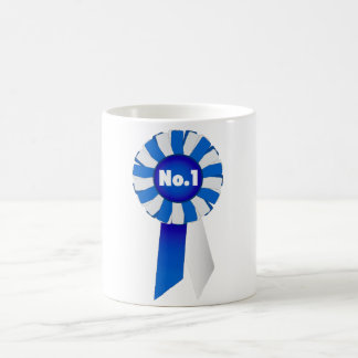 Rosette in Blue and White No. 1 Mug