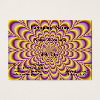 Rosette in Yellow and Lilac Card