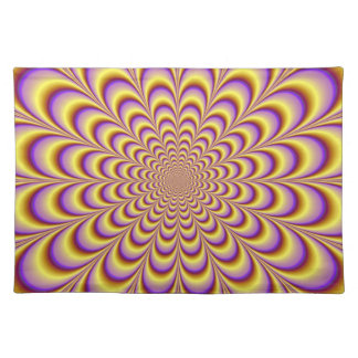 Rosette in Yellow and Lilac Placemats