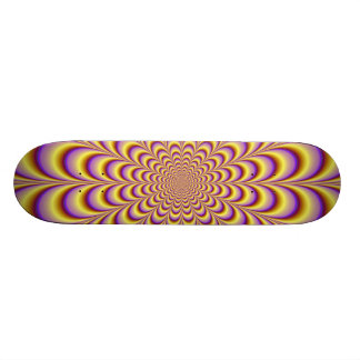 Rosette in Yellow and Lilac Skateboard