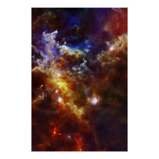 Rosette Nebula's Stellar Nursery Poster