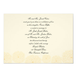 Rosettes Cream Hebrew Jewish Wedding Invitation