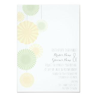 Rosettes Wedding Invitation _ Mint