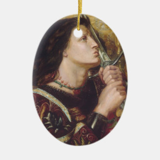 Rosetti: Joan of Arc Kisses the Sword, Christmas Ornament