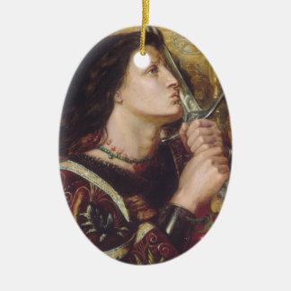Rosetti: Joan of Arc Kisses the Sword, Ceramic Oval Decoration