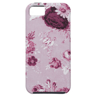 Rosewater Pink Vintage Floral Toile Fabric No.5 Tough iPhone 5 Case