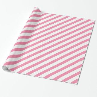 Rosey Cheeks Diagonal Stripe Wrapping Paper