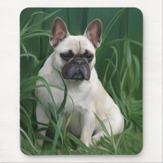 Rosey in the grass mouse pad