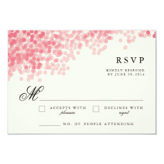 Rosey Light Shower | Pretty RSVP Response Cards 9 Cm X 13 Cm Invitation Card