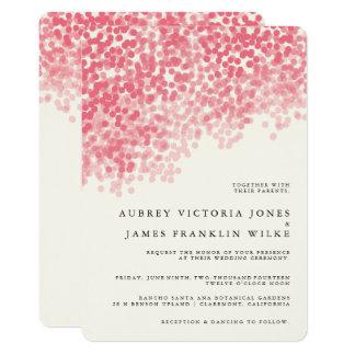 Rosey Light Shower | Rustic Wedding Invitations