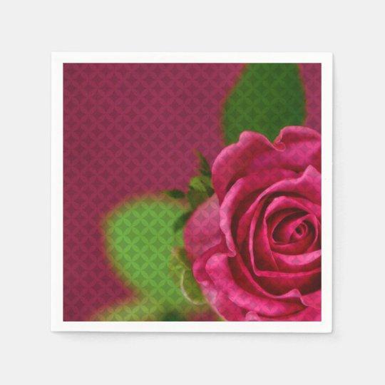Rosey Paper Napkins