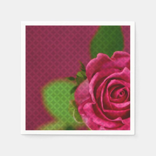 Rosey Paper Napkins Disposable Napkin