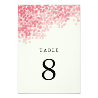 Rosey Pink Light Shower Table Number Cards