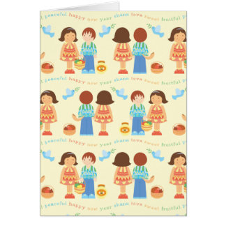Rosh Hashana Characters card