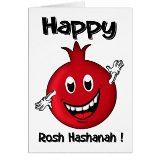 Rosh Hashanah, Happy Cartoon Pomegranate Card