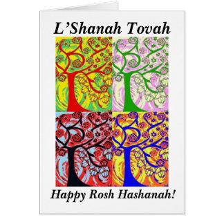 Rosh Hashanah - Judaica Hamsa Tree Of Life Sunrise Card