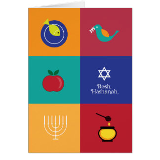 Rosh Hashanah Symbols Greeting Card