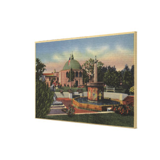 Rosicrucian Park, Fountain and Garden View Stretched Canvas Print