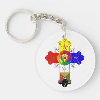 Rosicrucian Rose Cross Lamen Keychain Acrylic Key Chains