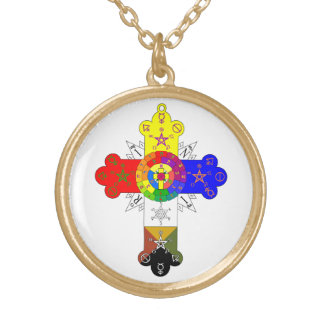 Rosicrucian Rose Cross Lamen Necklace