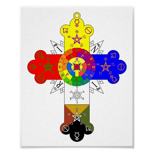 Rosicrucian Rose Cross Lamen Poster