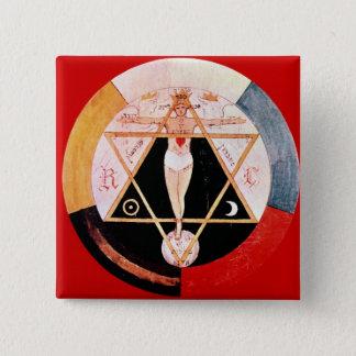 Rosicrucian symbol of the Hermetic Order 15 Cm Square Badge