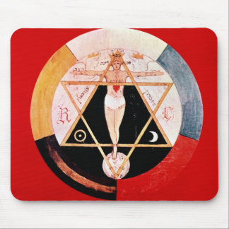 Rosicrucian symbol of the Hermetic Order Mouse Mat