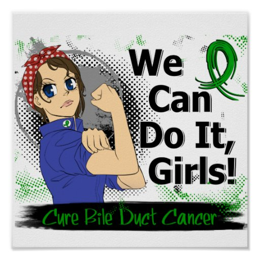 Rosie Anime WCDI Bile Duct Cancer Poster