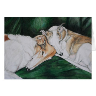 """Rosie & Bailey"" Dog Art Greeting Card"