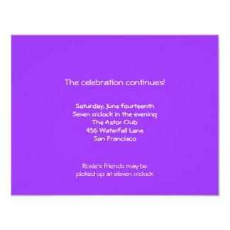 Rosie Bat Mitzvah Sweet 16 Reception 11 Cm X 14 Cm Invitation Card