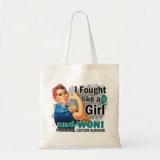 Rosie Fought Won Peritoneal Cancer Survivor Canvas Bags