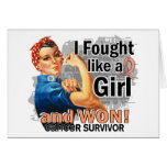 Rosie Fought Won Uterine Cancer Survivor.png Greeting Cards