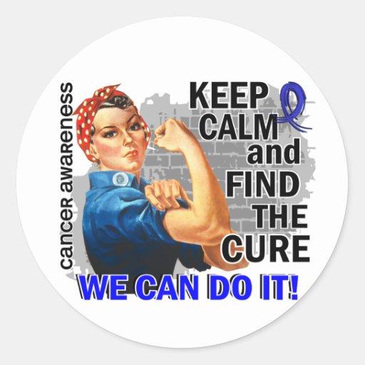 Rosie Keep Calm Anal Cancer Stickers