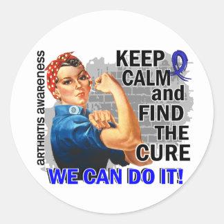 Rosie Keep Calm Arthritis Sticker