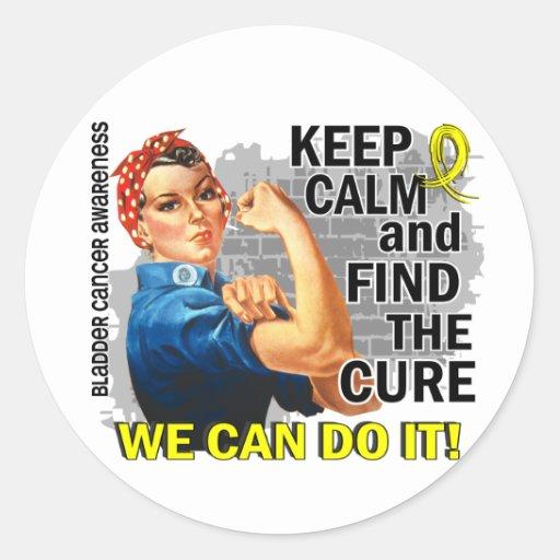 Rosie Keep Calm Bladder Cancer.png Stickers