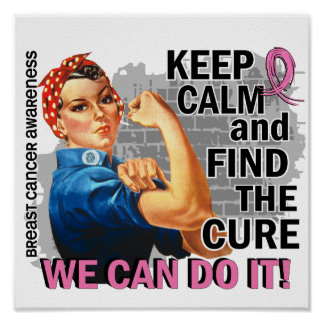 Rosie Keep Calm Breast Cancer.png Poster