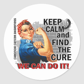 Rosie Keep Calm Carcinoid Cancer.png Round Stickers