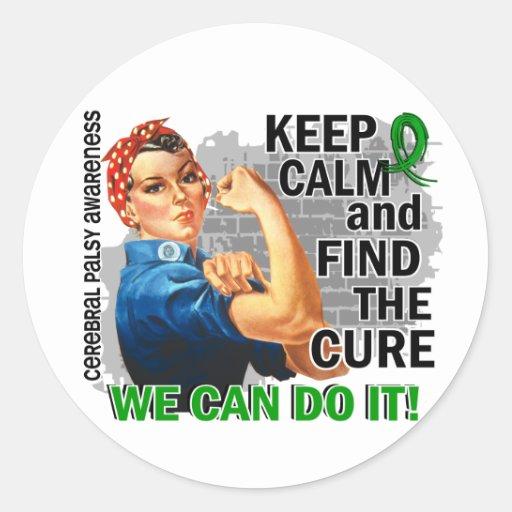 Rosie Keep Calm Cerebral Palsy.png Round Sticker