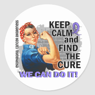 Rosie Keep Calm Esophageal Cancer.png Round Stickers