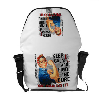Rosie Keep Calm Head Neck Cancer.png Courier Bag