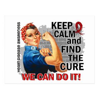 Rosie Keep Calm Heart Disease.png Postcard