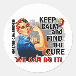 Rosie Keep Calm Hepatitis.png Round Sticker