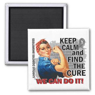Rosie Keep Calm J Diabetes png Refrigerator Magnets