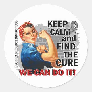 Rosie Keep Calm J Diabetes.png Stickers