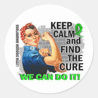 Rosie Keep Calm Lyme Disease.png Round Stickers