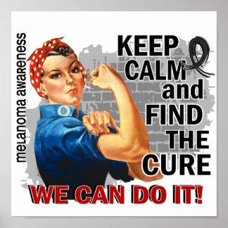 Rosie Keep Calm Melanoma png Posters
