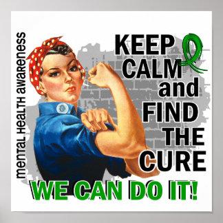 Rosie Keep Calm Mental Health.png Poster