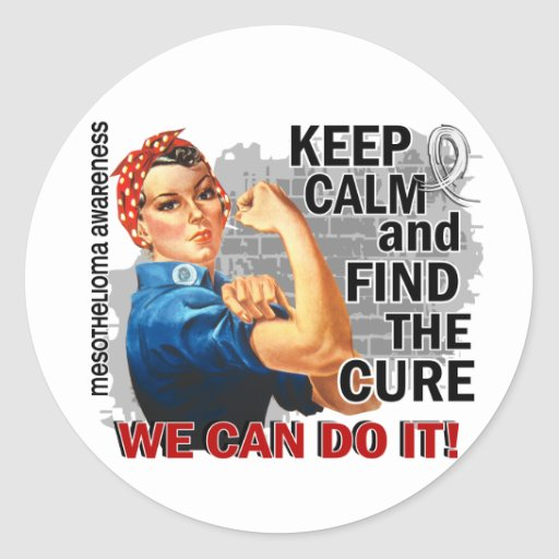 Rosie Keep Calm Mesothelioma.png Stickers
