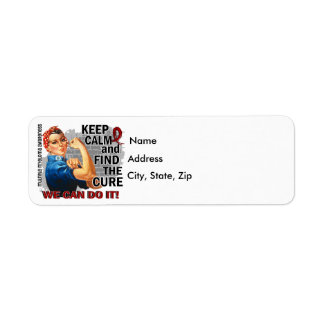 Rosie Keep Calm Multiple Myeloma.png Return Address Label